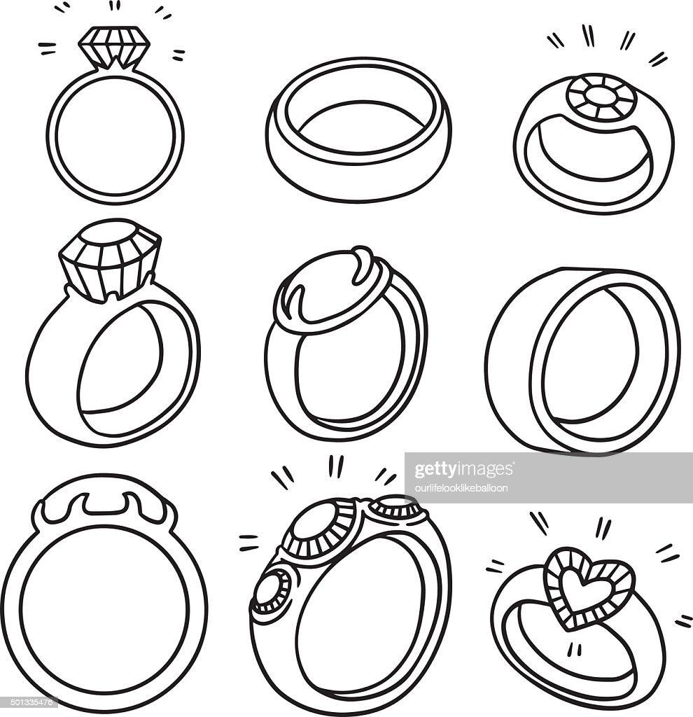 vector set of wedding ring