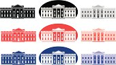 Vector set of White House icons