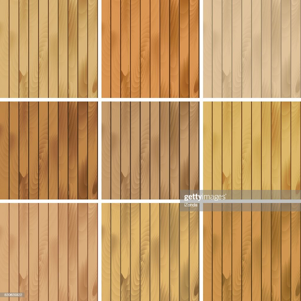 Vector Set of Wooden Seamless Textures Patterns Backgrounds