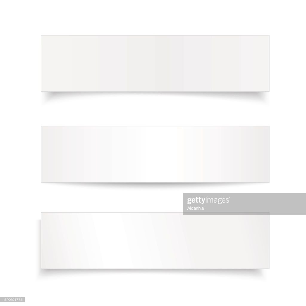 Vector set realistic paper sheet ,banner with different shadow
