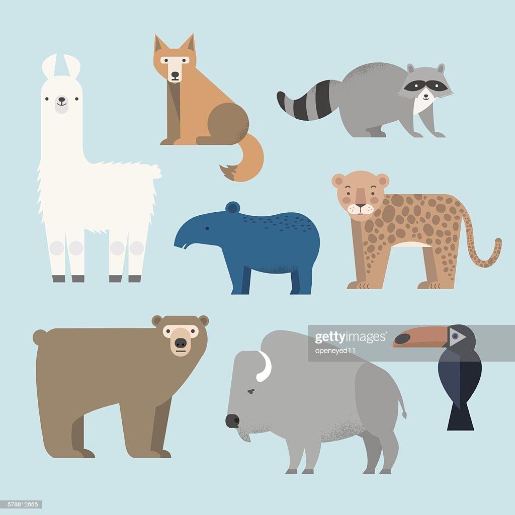 Vector set Wild animals