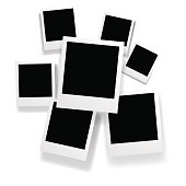 Vector seven blank pictures