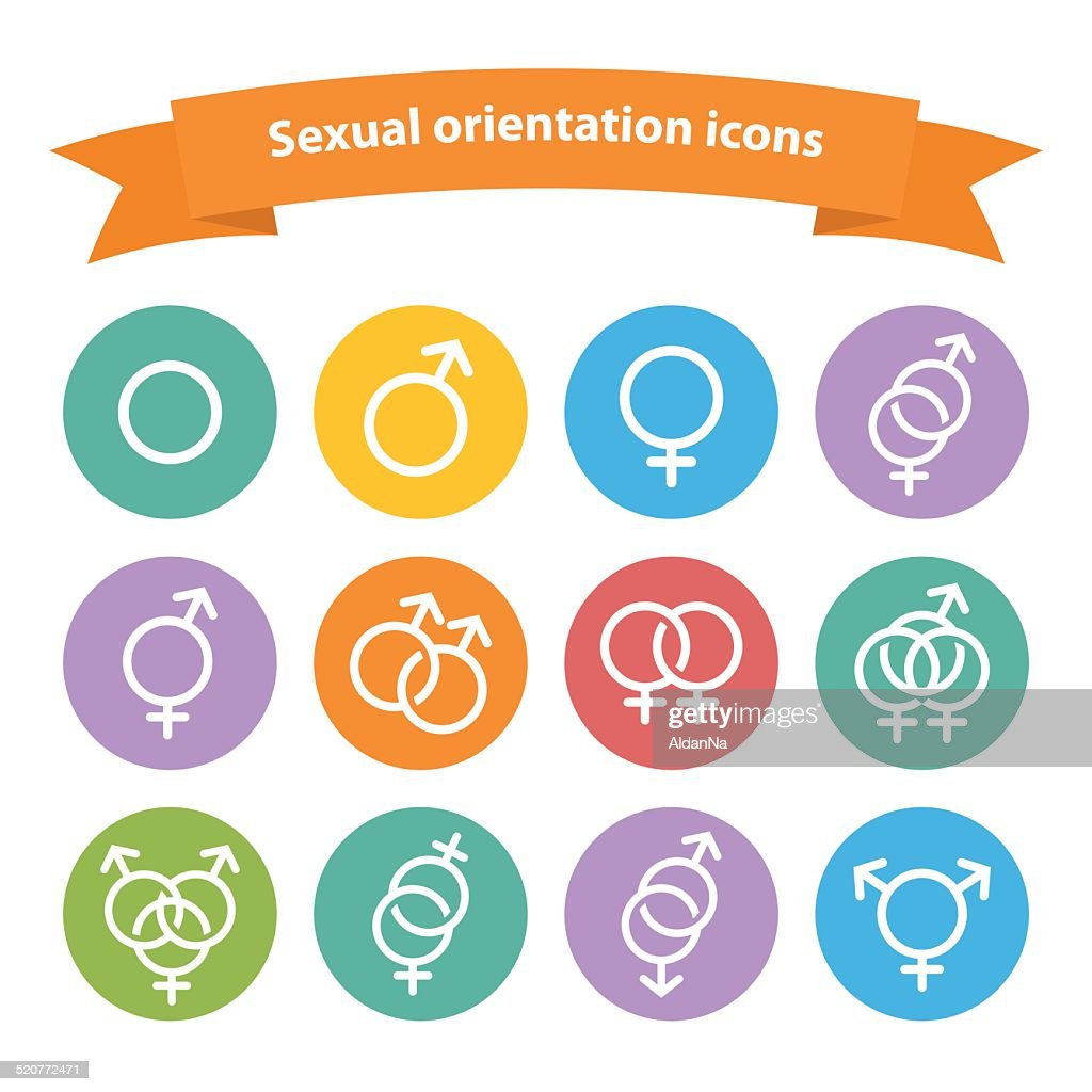 Vector sexual orientation white web icons,symbol,sign