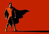 Vector Shadowy Superhero Looking Left