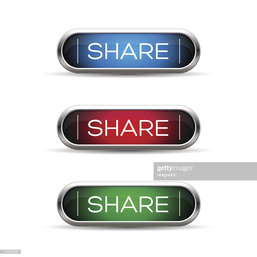 Vector share button set