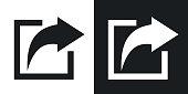 Vector share icon. Two-tone version
