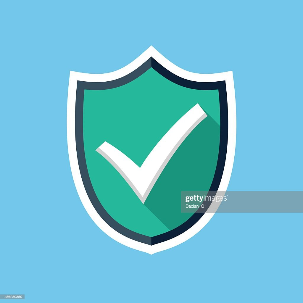 Vector shield with check mark icon