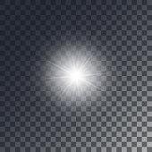 Vector shining sun