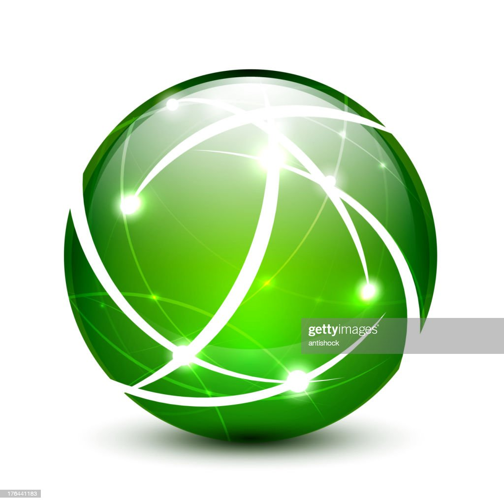 Vector shiny green sphere