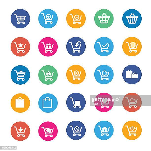 vector shopping icon - ordering stock illustrations, clip art, cartoons, & icons