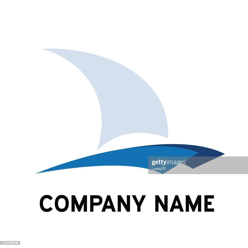 Vector sign catamaran, yacht and boat