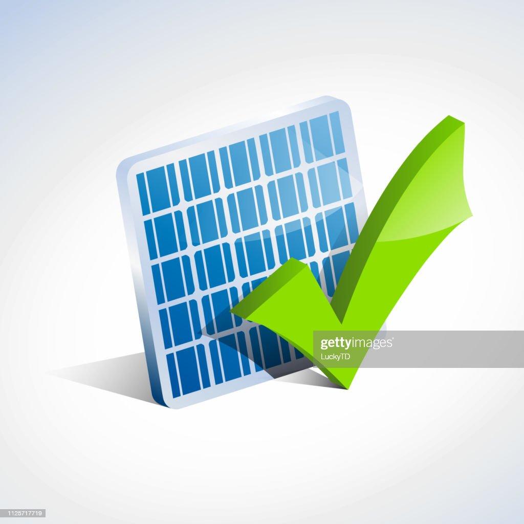Vector sign check solar panel
