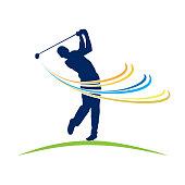Vector sign Club Golf