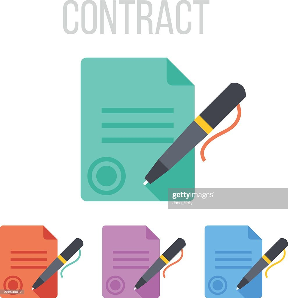 Vector sign contract icons