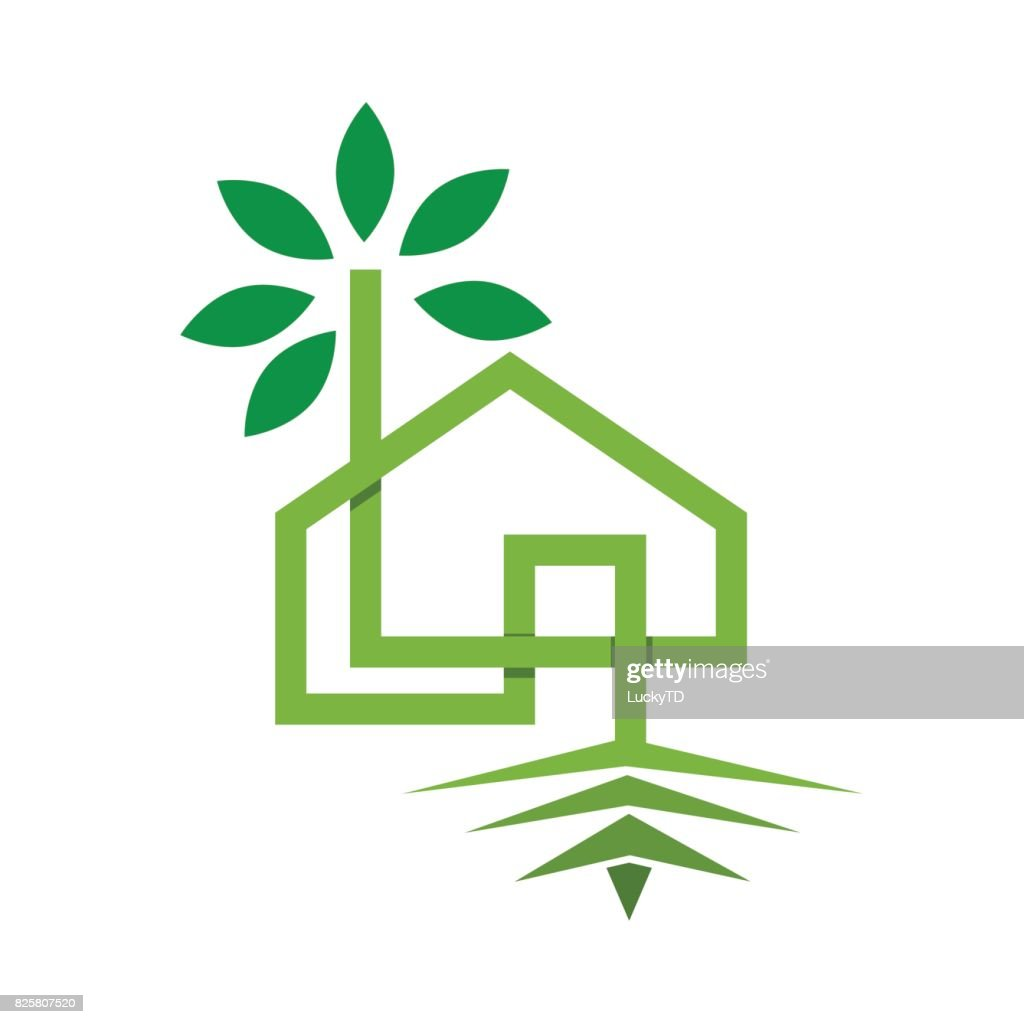 Vector sign eco-house