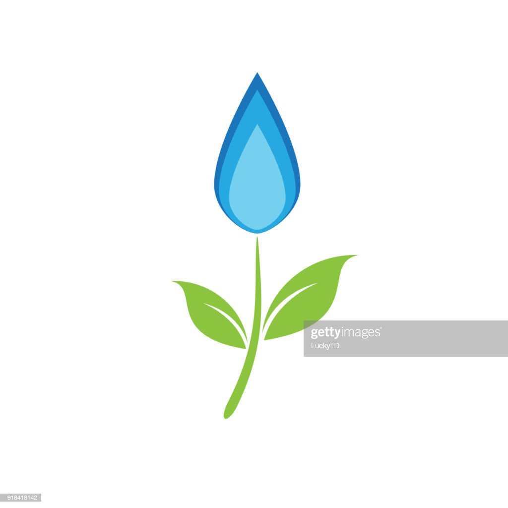 Vector sign flower natural gas