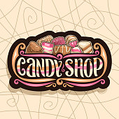 Vector sign for Candy Shop