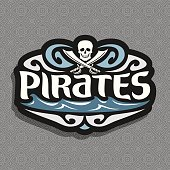 Vector sign for Pirate theme