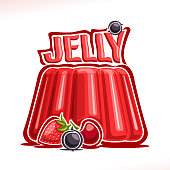 Vector sign for strawberry Jelly