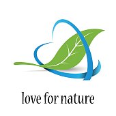 Vector sign Love for Nature