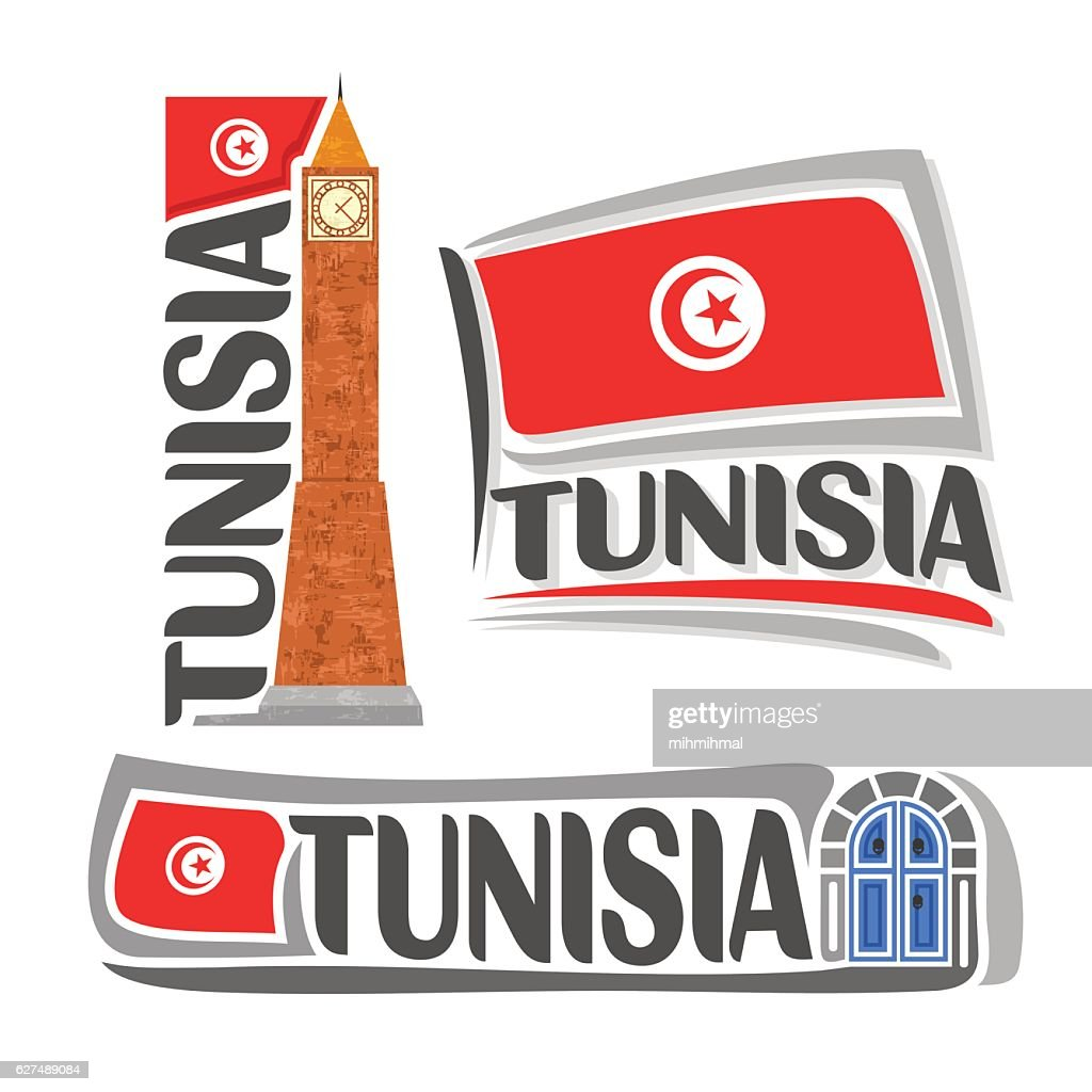 Vector sign Tunisia