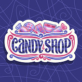 Vector signboard for Candy Shop