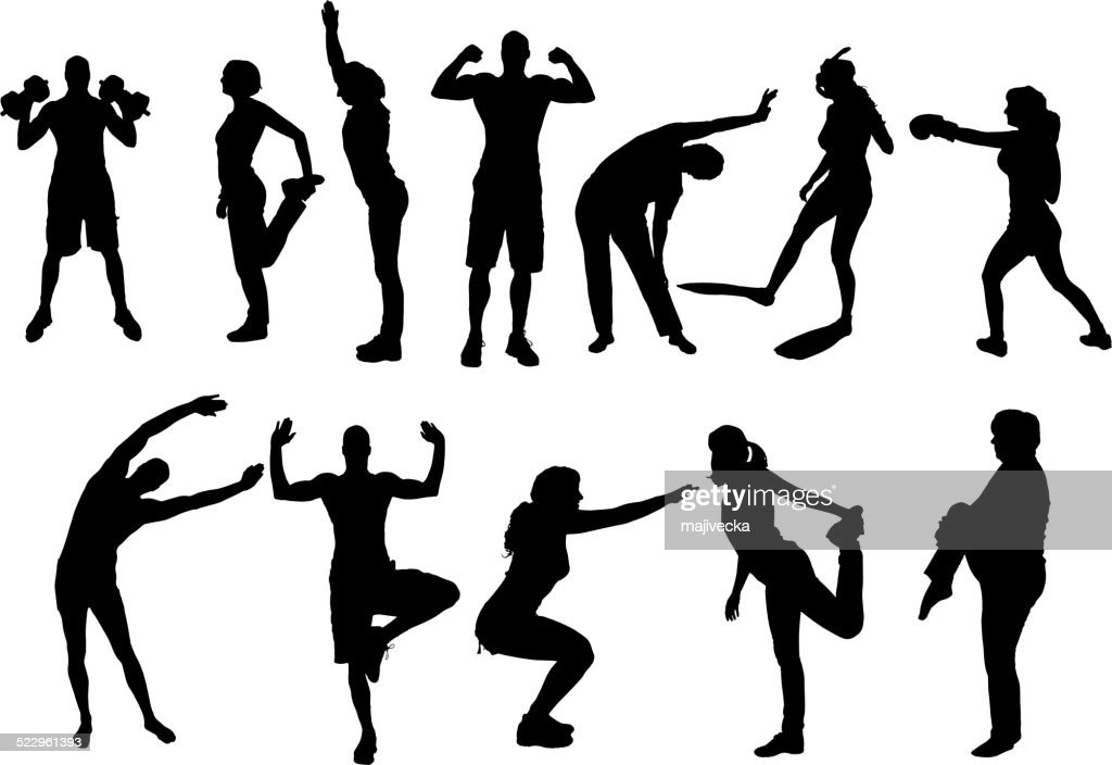Vector silhouettes of different people.