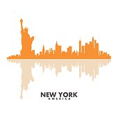 Vector silhouettes of the city