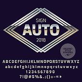 Vector Silver Logo Template for Luxury Car Shop