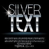 Vector Silver Text with Alphabet