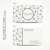 Vector simple business card design.  Business card. Trendy calling card.