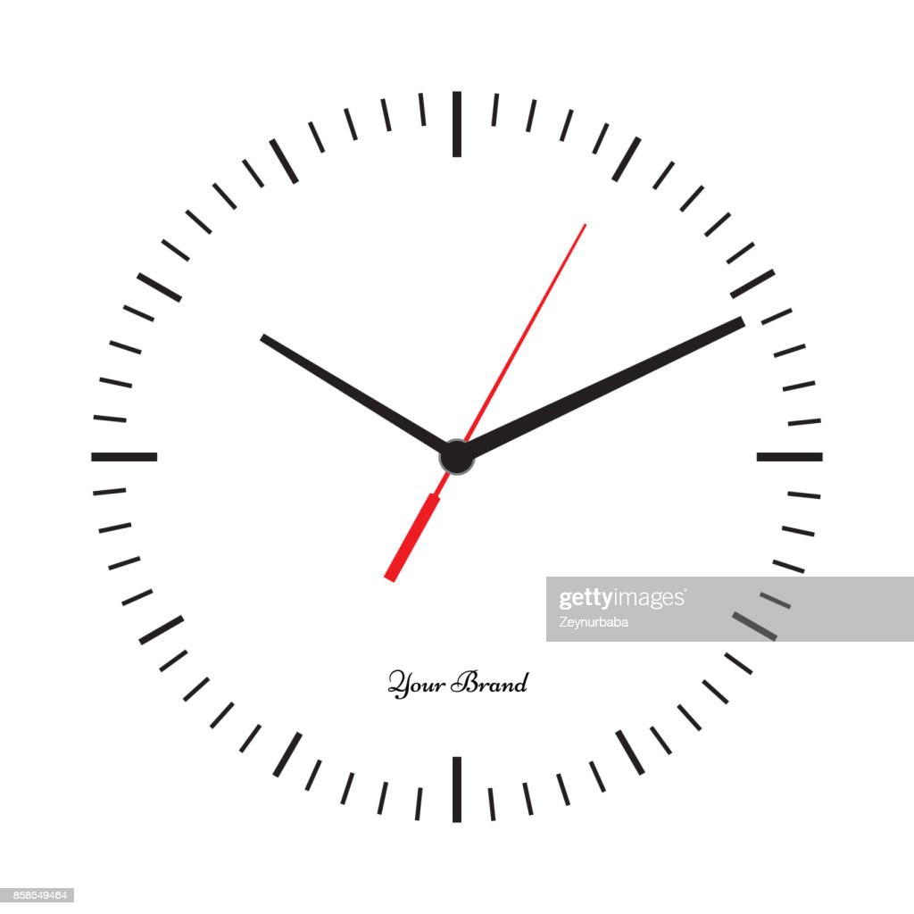 Vector simple classic clock icon without numbers