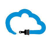 http://www.istockphoto.com/vector/vector-simple-cloud-drawn-with-painting-brush-meteorology-sign-gm874516248-244183730