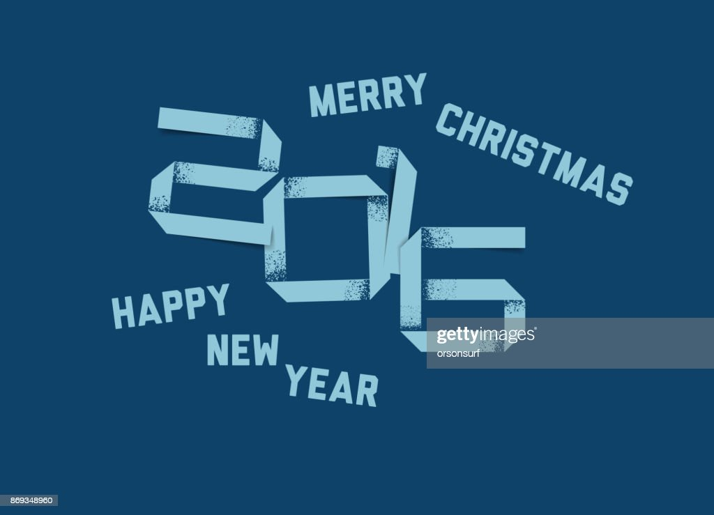 vector simple happy new year card 2016 vector art