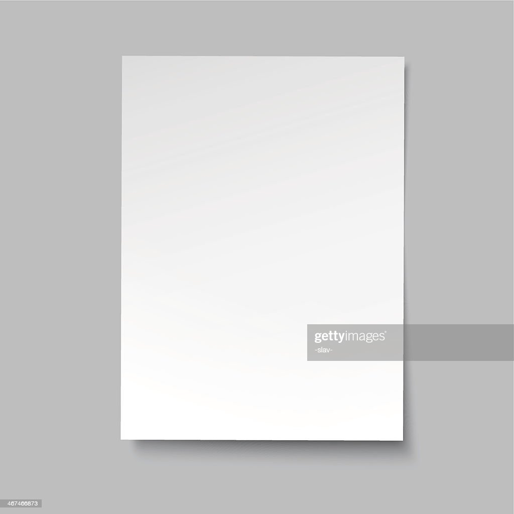 vector simple paper sheet