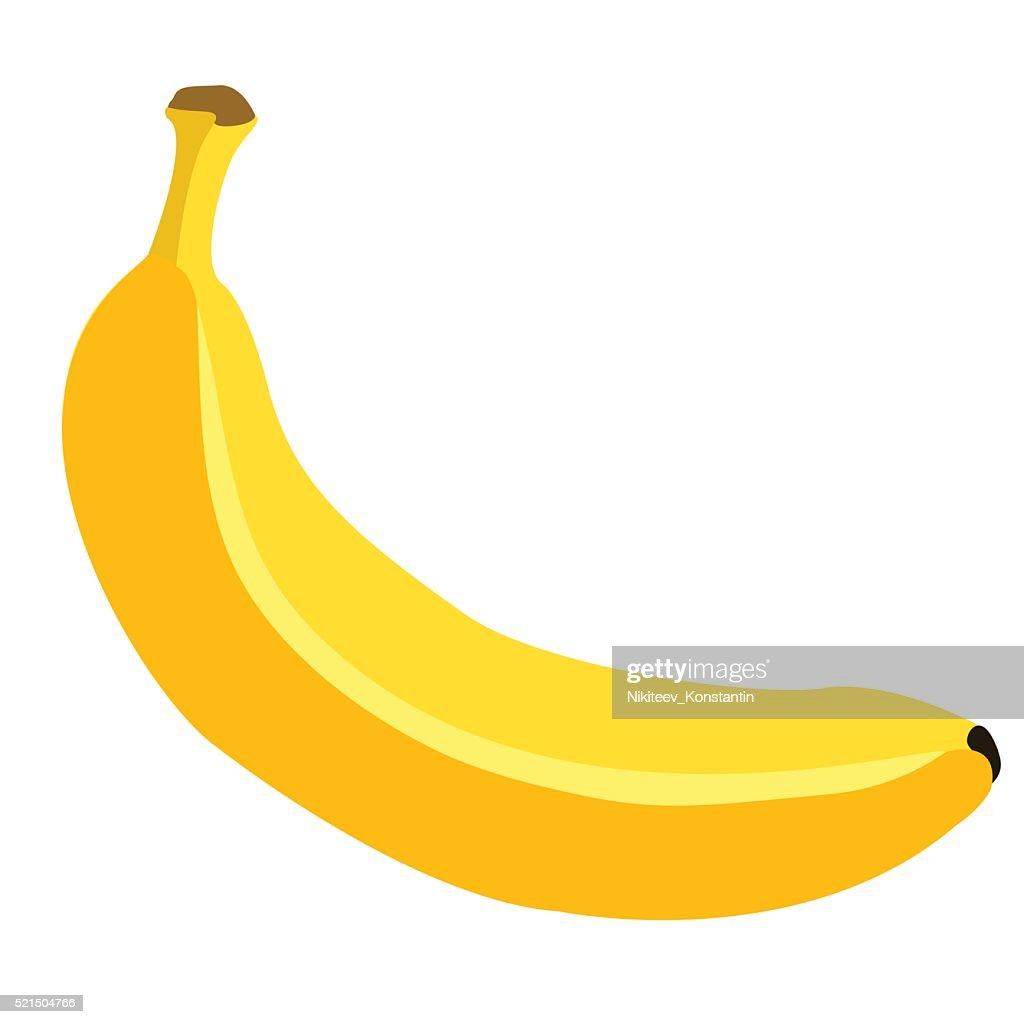 Vector Single Cartoon Banana