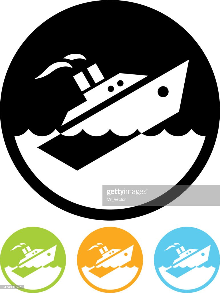 Vector Sinking ship isolated