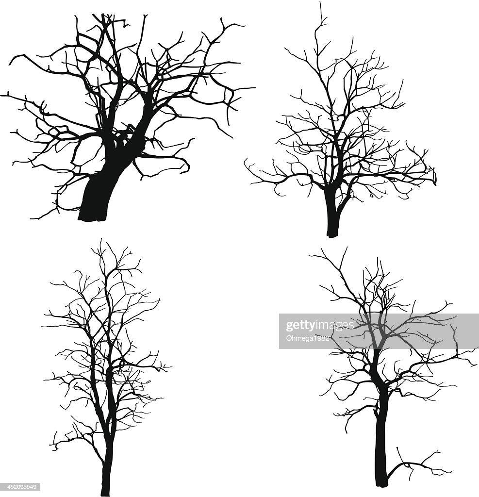 Vector sketch of dead trees