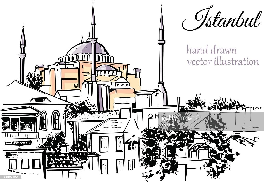 Vector sketch of turkish landmark