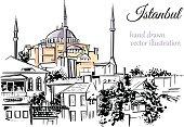 Vector sketch of turkish landmark