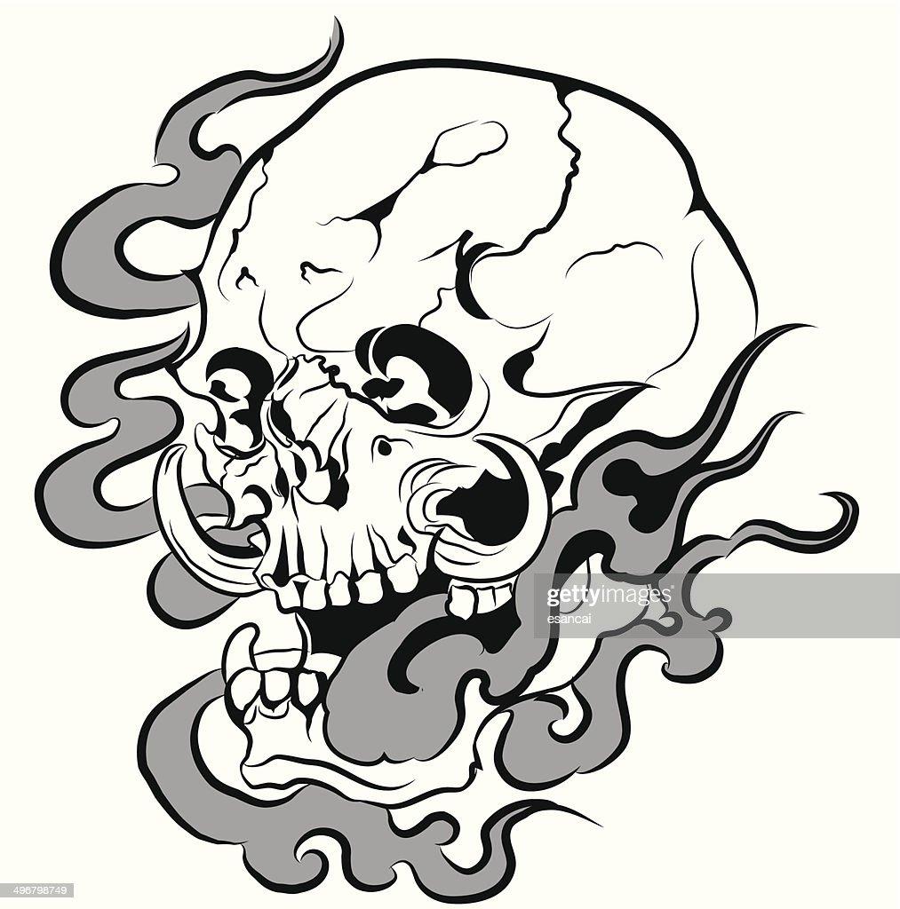 Vector skull artwork