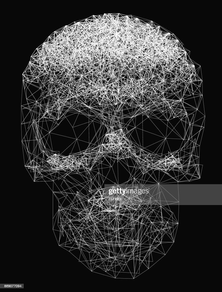 Vector Skull Line- art