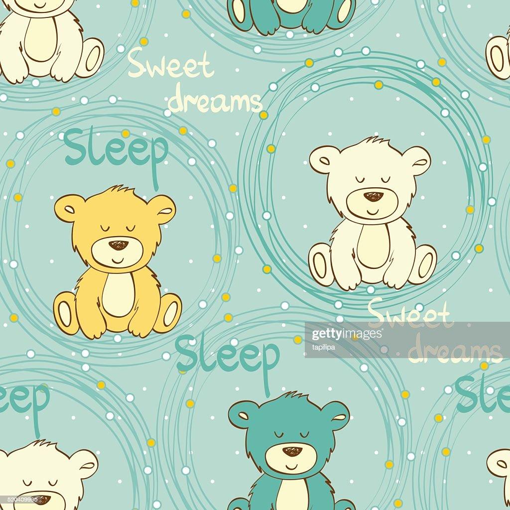 Vector sleeping bear