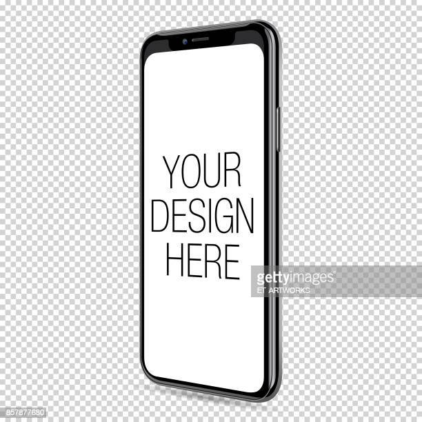 vector smart phone template - mobile phone stock illustrations, clip art, cartoons, & icons