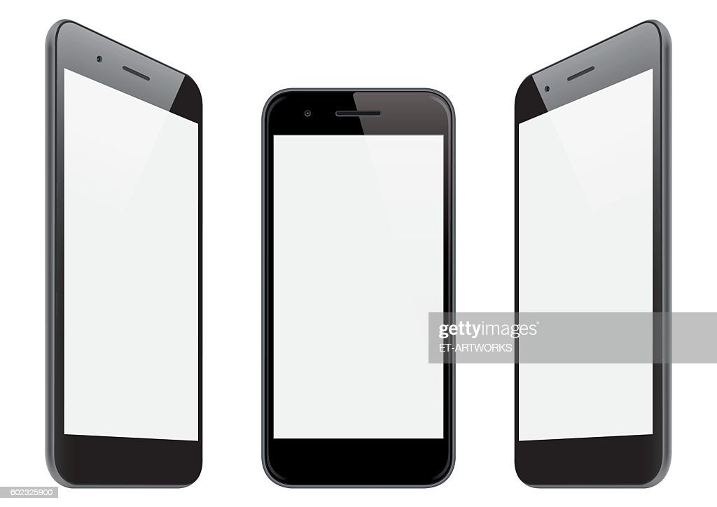 Vector smart phone templates