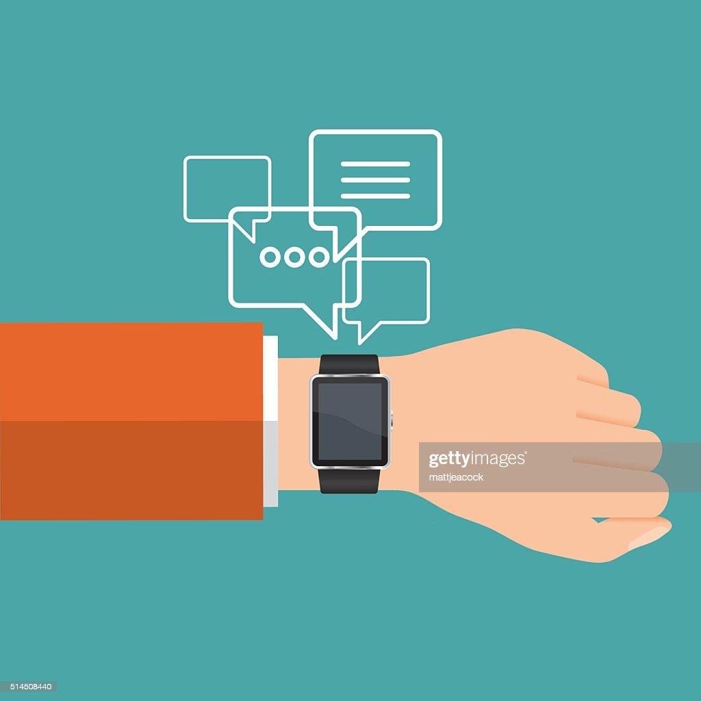 Vector smart watch communication
