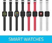 Vector smart watches.