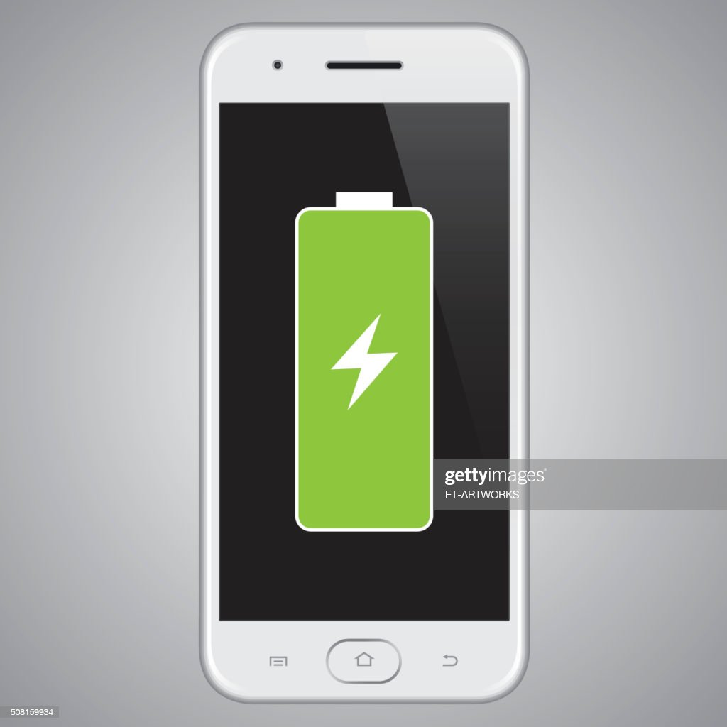 Vector smartphone Full Battery.