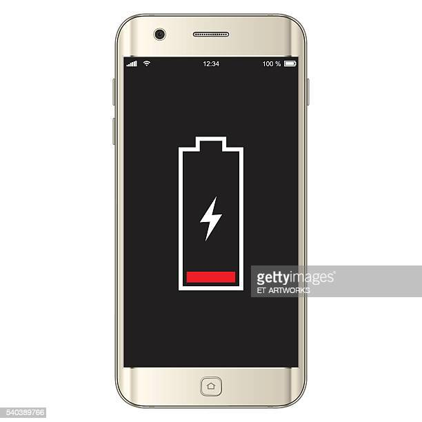 vector smartphone low battery - animals charging stock illustrations, clip art, cartoons, & icons