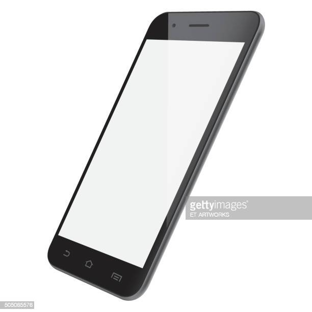 vector smartphone template - mobile phone stock illustrations, clip art, cartoons, & icons